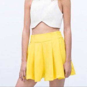Zara Shorts - Zara High Waist Pleated Skorts XS